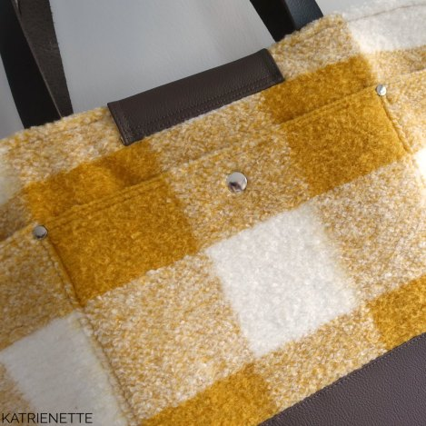 Katrienette explorer tote small large weekend bag sewing bags naaien tas tassen weekend kunstleer stof katoen noodlehead
