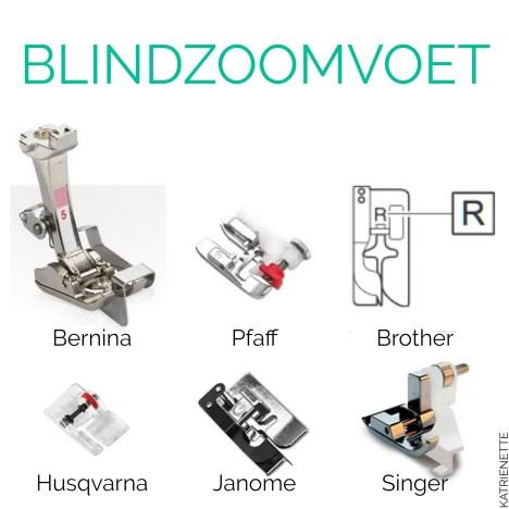 Katrien Katrienette blind zoom voet blindzoomvoet blinde zoom naaivoet naaien blind hem foot Tutorial Technieken