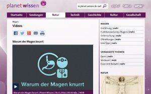 Planet Wissen (WDR): Dossier zum Magen (mit Erklärvideo)