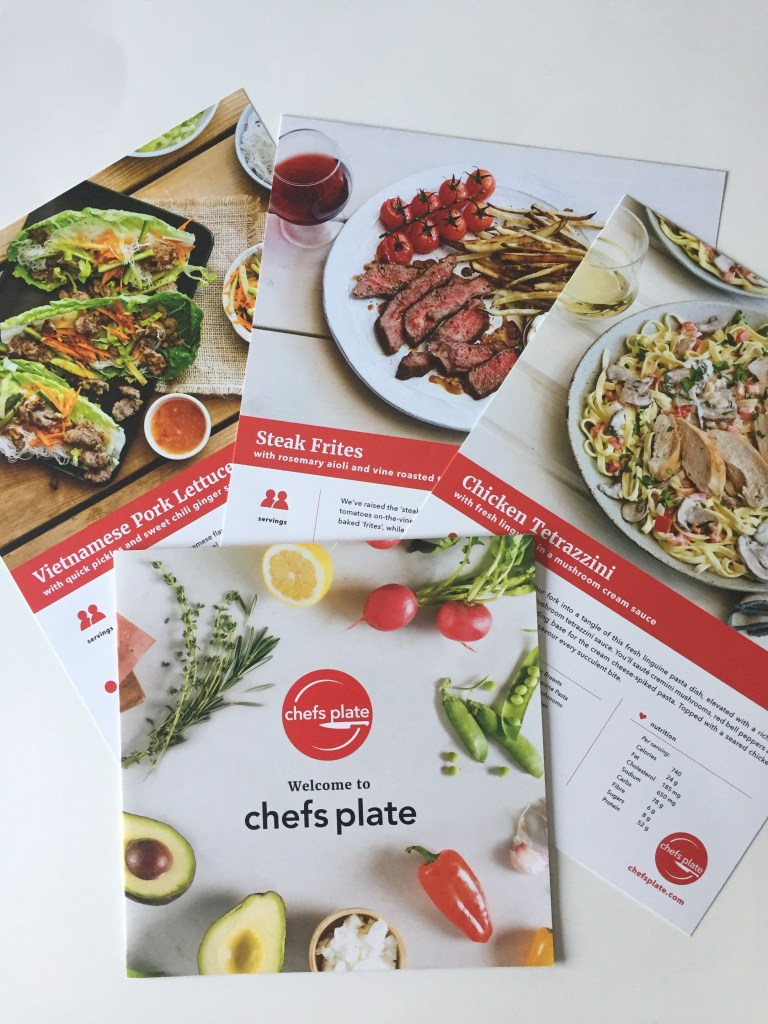 Easy to follow recipe cards for chefs Plate box