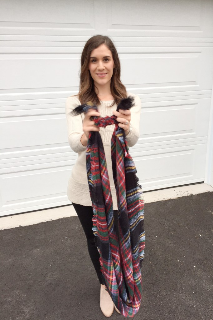 How to tie a blanket scarf - infinity scarf