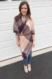 how to tie a blanket scarf for Fall