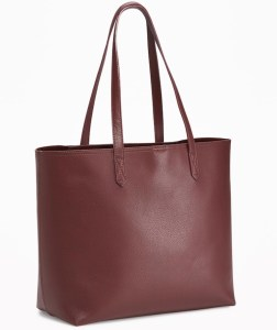 A structured tote is the perfect bag for Fall