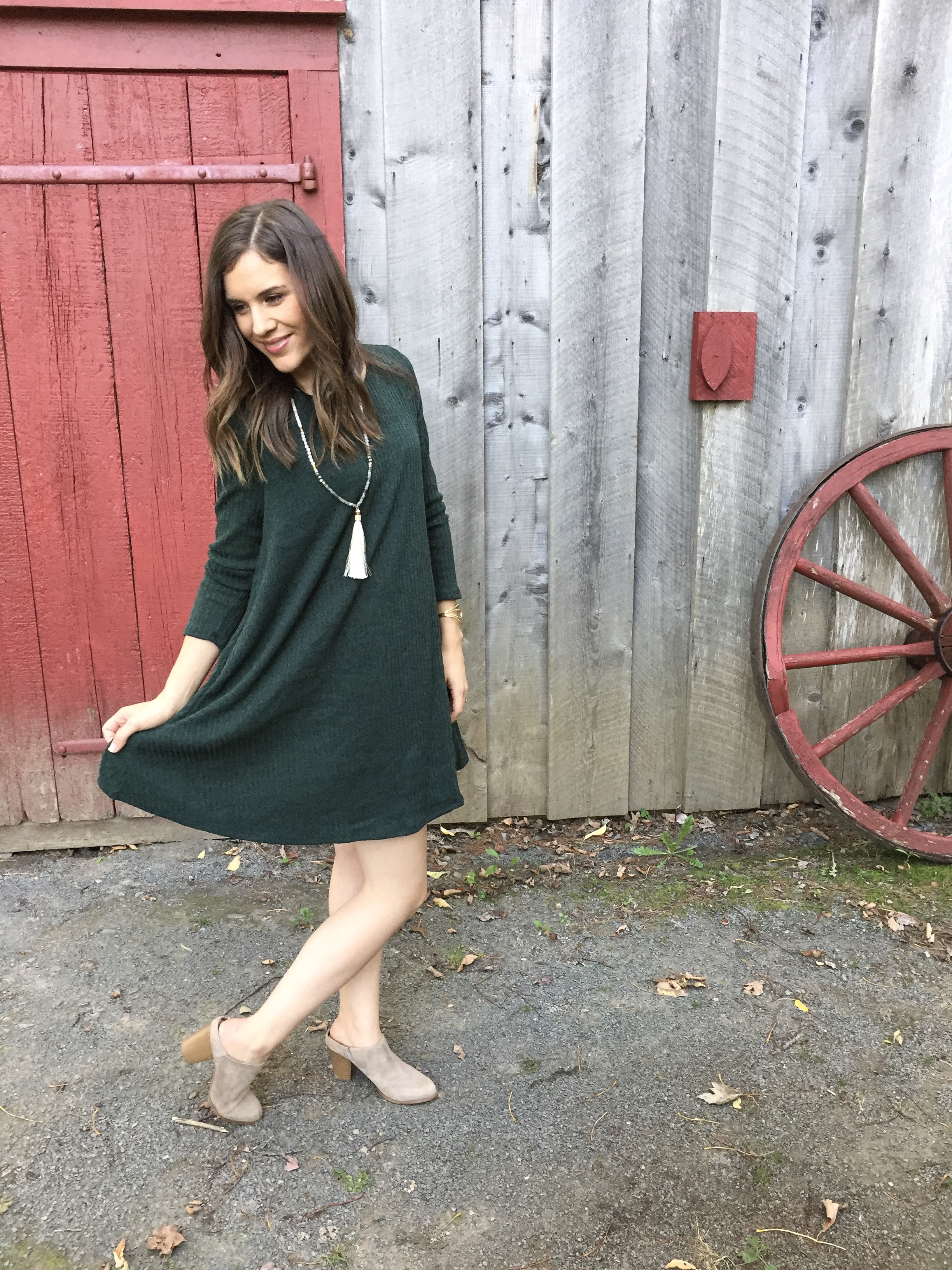 Shop Pink Blush sweater dress 5x5 style challenge