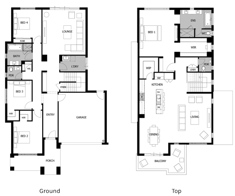 Floor Plan Friday: 2 storey living on top