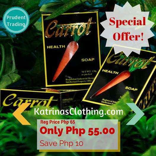 Carrot Health Soap, Carrot Soap, Anti acne soap, prudent trading, butuan city, katrinas clothing, philippines, skin care, skin care, beauty soap, carrot, clear skin, acne