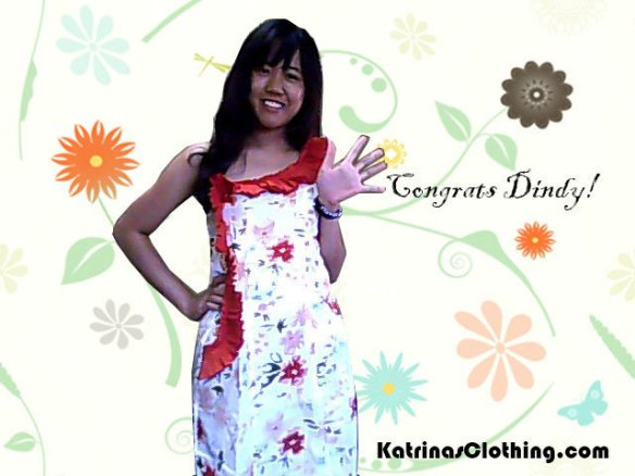dress winner, giveaway winner, anniversary giveaway, winner of a dress