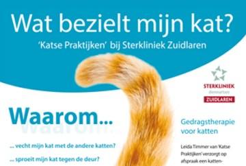 Aankondiging van mijn kattengedragsspreekuur bij Sterkliniek Zuidlaren