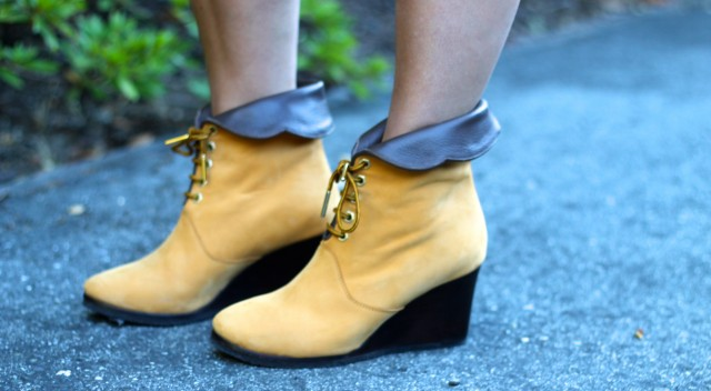 Chloe Suede Cuffed Wedge Ankle Boot