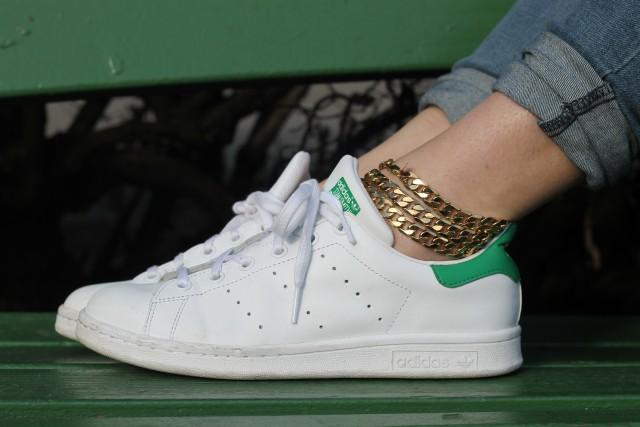 KatWalkSF Adidas 'Stan Smith' Leather Sneakers (Big Kid)
