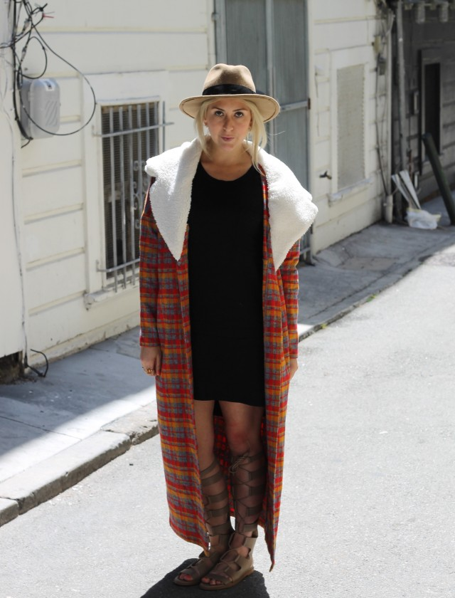 KatWalkSF Plaid Coat