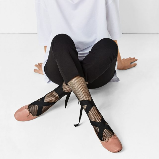 Lace-up - Ribbon - Ballet Flats