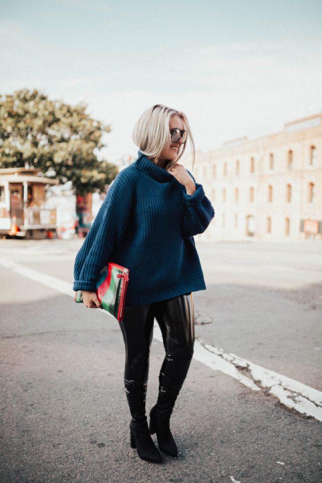 Fashion Blogger Secrets Revealed, Turtleneck, 2 Truths + A Lie, KatWalkSF, Kat Ensign, Kathleen Ensign, Fashionista, Fashion Diaries, Plastic Pants, Quay, Balenciaga Bazar Pouch, Boohoo, Top Fashion Blogger, San Francisco Fashion Blogger, San Francisco Beauty Blogger, Style Blogger, Public Desire, My San Francisco, The Buena Vista, Irish Coffee
