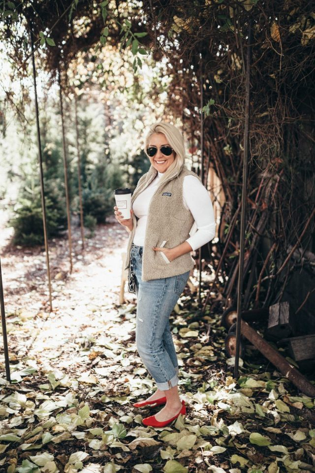 SF Blogger, Top Blogger, Favorite Things, KatWalkSF, Kat Ensign, Fashionista, Fashion Diaries, Denim, White Turtleneck. Nordstrom, Patagonia, Patagonia Vest, Los Gatos Vest, BF Jeans