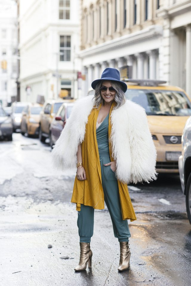 Eugenia Kim, Les Lunes, Bianca faux pearl-embellished wool-felt fedora, NYFW, New York. Fashion Blogger, Blogger Style, Fur, Gold Boots, Winter Style, Purple Hair, San Francisco Blogger, Ray Ban, Shop Ditto, KatWalkSF, Kathleen Ensign, Banana Republic, Lydia Hudgens
