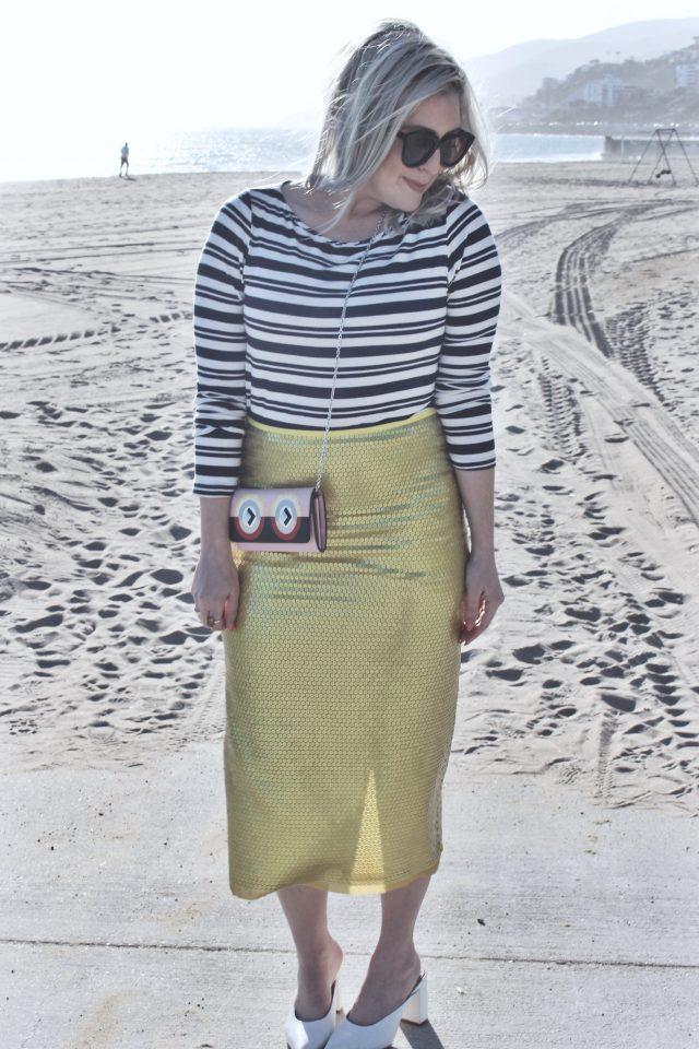 ICI MAINTENANT, C'EST MOI, KatWalkSF, Kat Ensign, Amour Vert, Skirt, Skirt Style, German Skirts, Fendi, Fashionista, Reformation, Spring Style, Printed Skirt, San Francisco Blogger, Malibu, Beach Style