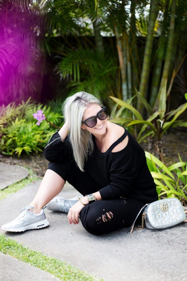 Nordstrom Anniversary Sale, N Sale, KatWalkSF, Kat Ensign, Fashion Blogger, Fashionista, Fashion Diaries, Travel Bloggers, Travel With Me, Nike Shoes, Silver Nike Shoes, Gucci Bag, Gucci Silver Bag, N:Philanthropy, Sweats, Travel Chic