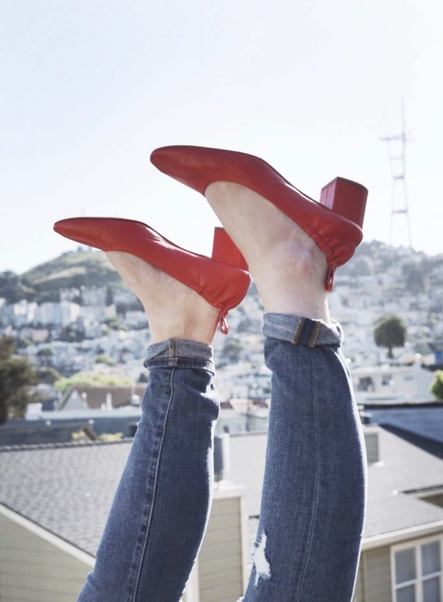 Everlane, Comfy Heel, Spring Shoe, The Day Shoe, The Day Heel, Bright Red, KatWalkSF, Kat Ensign, Fashion Blogger, Fashionista, Blogger Style, San Francisco Blogger,