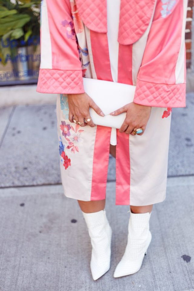 Sterling Forever, Fashion Week, ASOS, Public Desire, Mon Purse, Street Style, West Village, White Boots, White Shoe Trend, Kimono, Purple Hair, Trends, Fashionista, Fashion Diaries, San Francisco Blogger, White After Labor Day, Fall Fashion