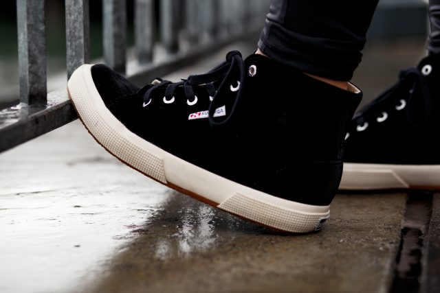 Superga - Velvet High Top Sneakers