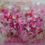 "Alchemy of Passion - 30""x40"" mixed media painting on canvas by Kat Warren"