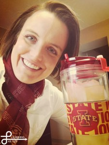 Me & my favorite water glass...of course it's Iowa State!!