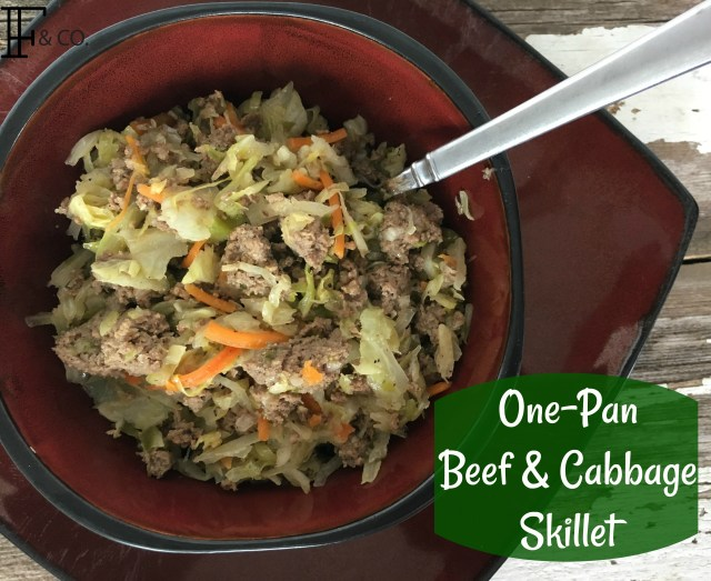 One Pan Beef & Cabbage Skillet