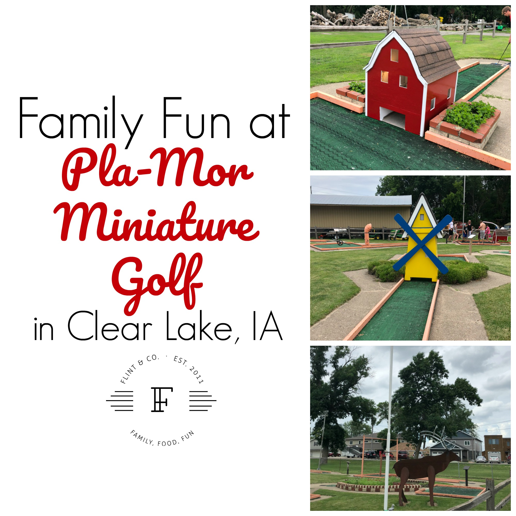 Exploring our Backyard Mini Golf & Ice Cream in Clear Lake Flint & Co