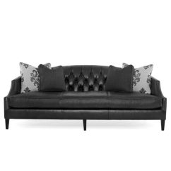 Black Leather Sofa Sofas Buffalo Ny Bernhardt Diane Katzberry Home Decor