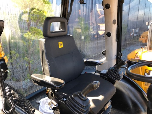 Canvas seat cover for a JCB Wheel Loaders