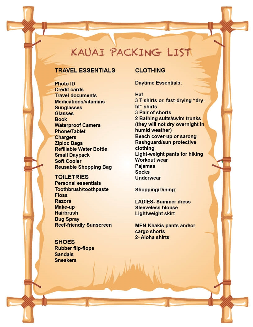 What To Pack For Your Kauai Vacation Tips From A Local Kauai Com