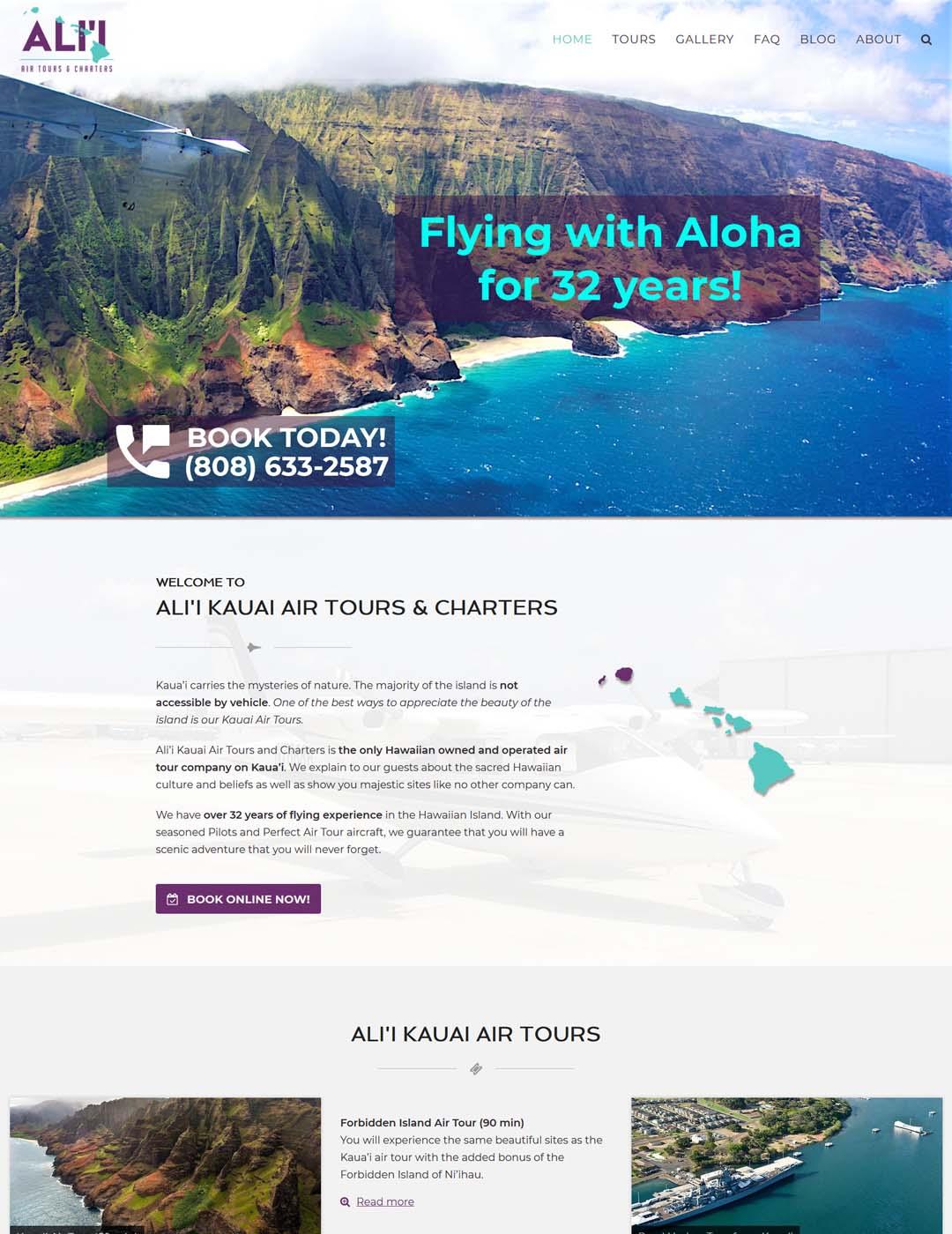Kauai Air Tour Website