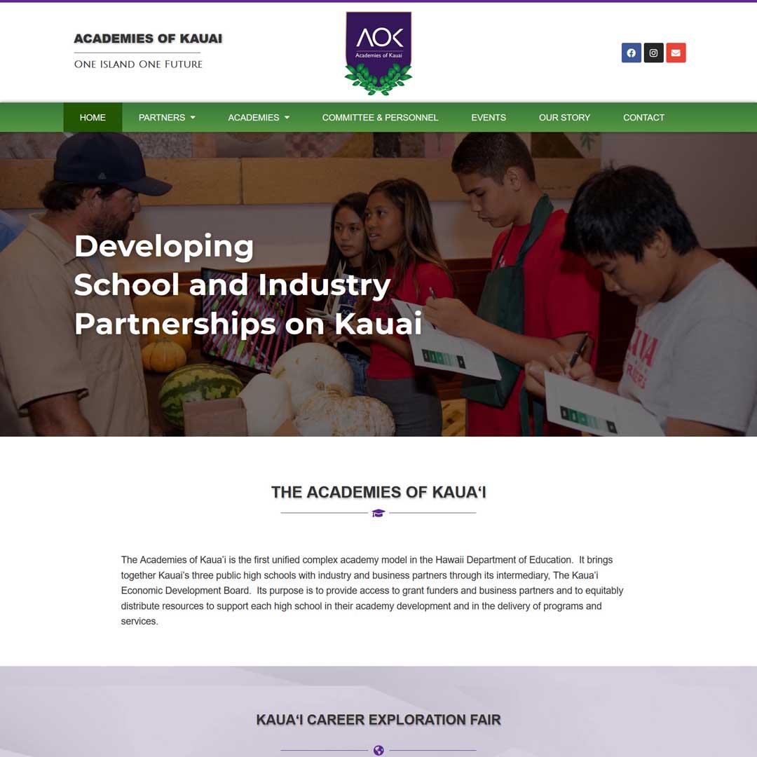 Kauai academies web design