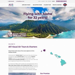 Air Tour Company in Hawaii website