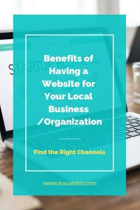 Benefits of having a website for your local business-pinterest
