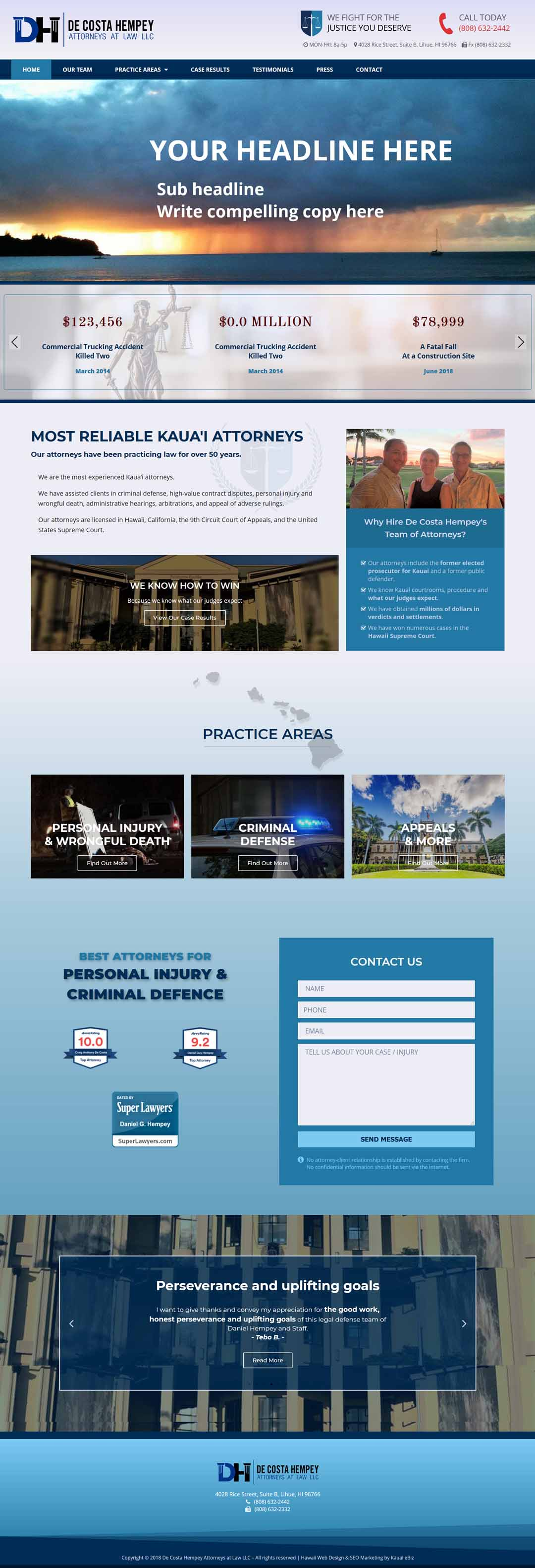 Hawaii Attorneys Website