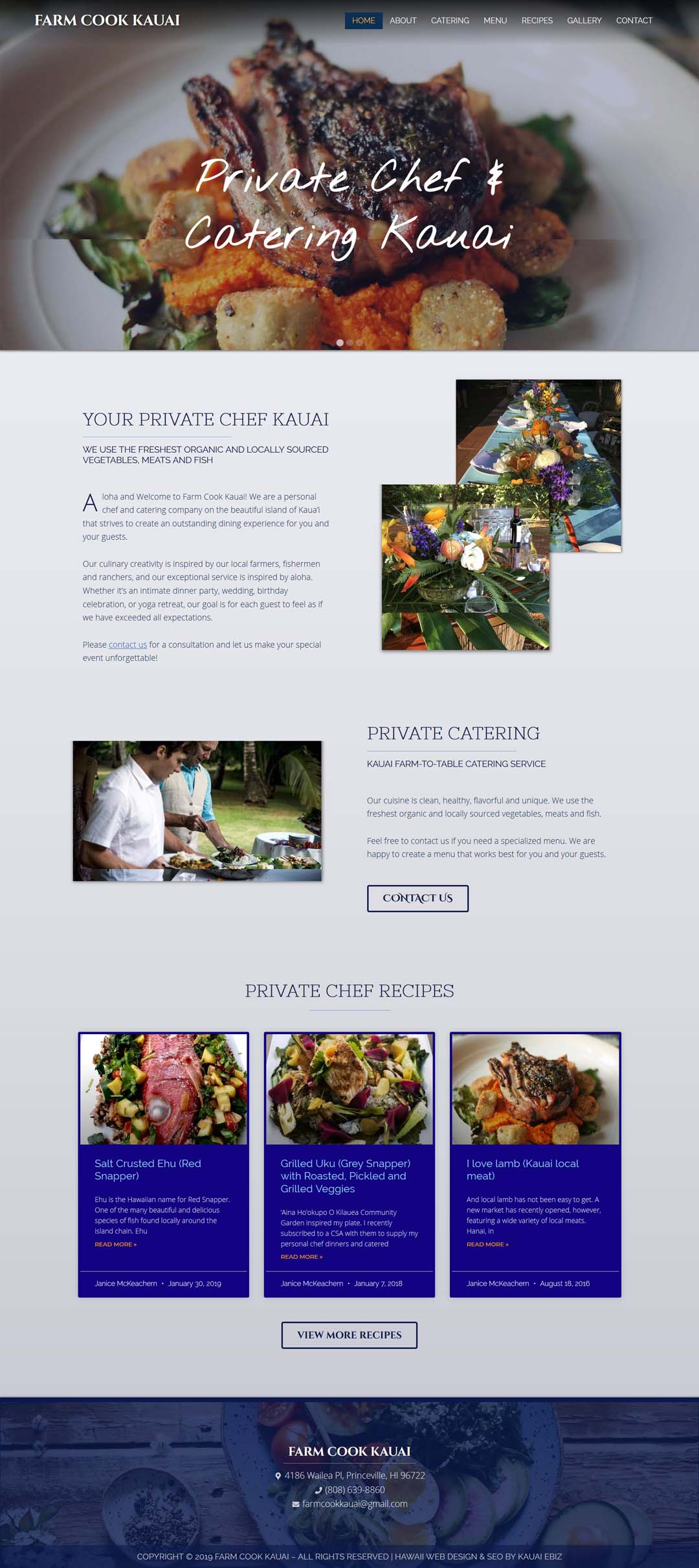 Farm Cook Kauai Private Chef whole site