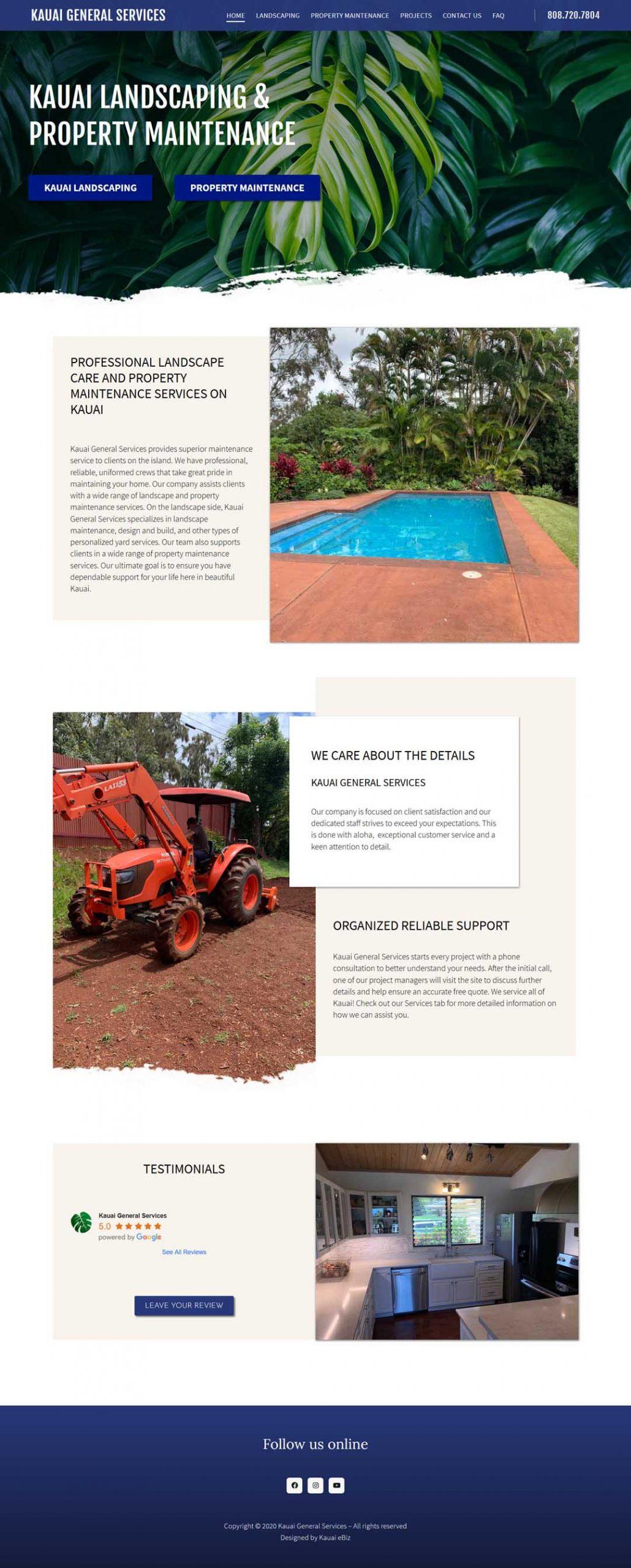 Kauai Landscaping & Property Maintenance Web Development