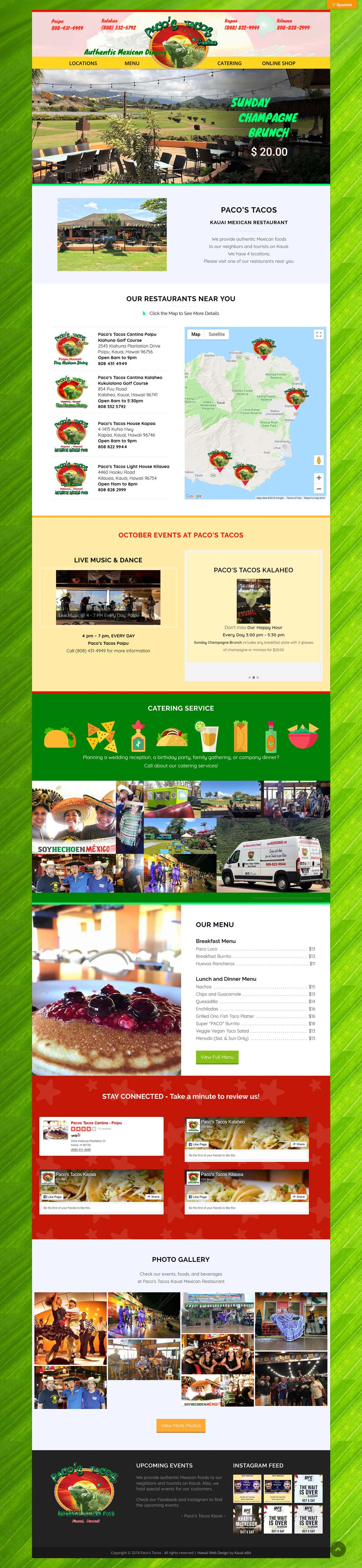 Online Shop Web Design Hawaii