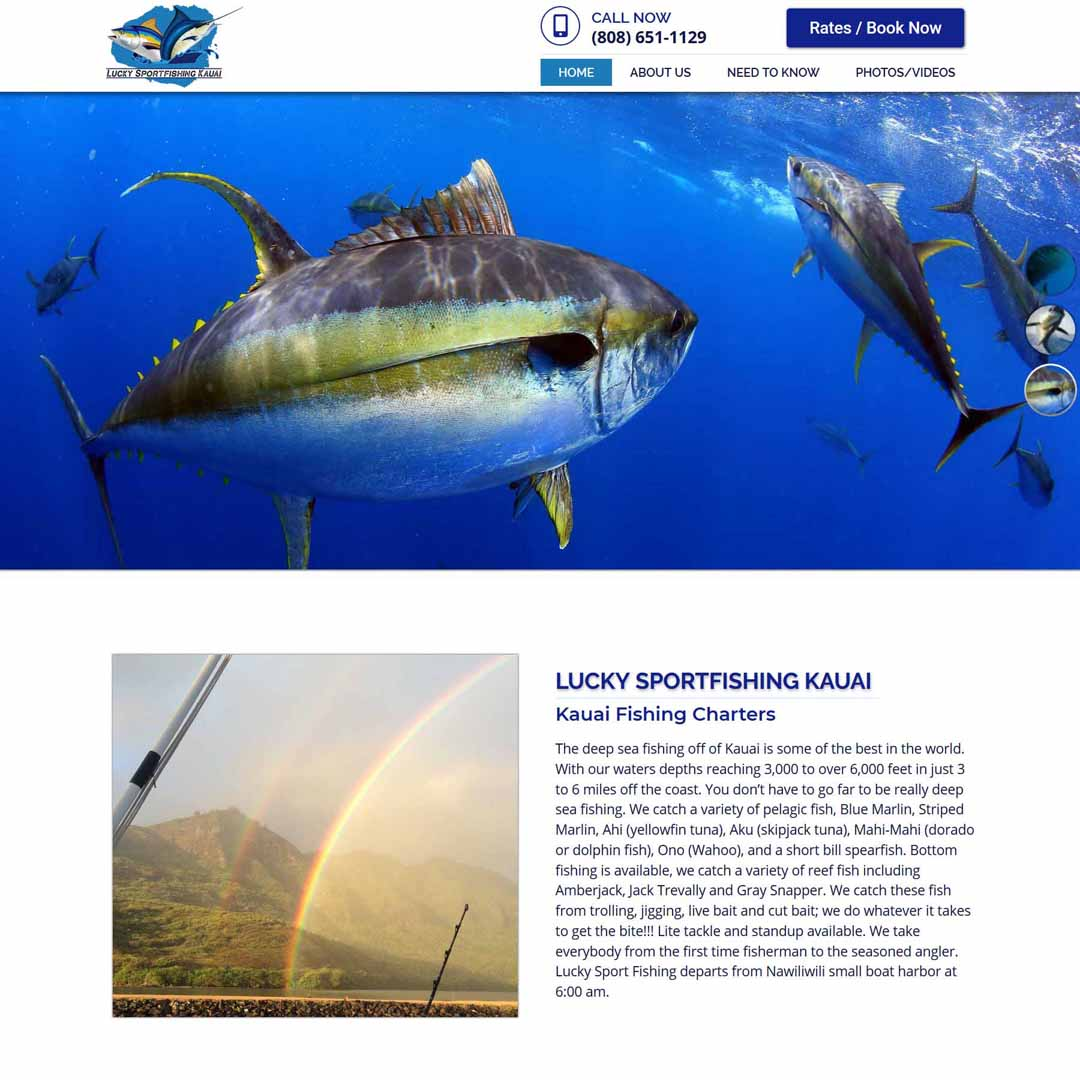 Kauai Sportfishing Web Design