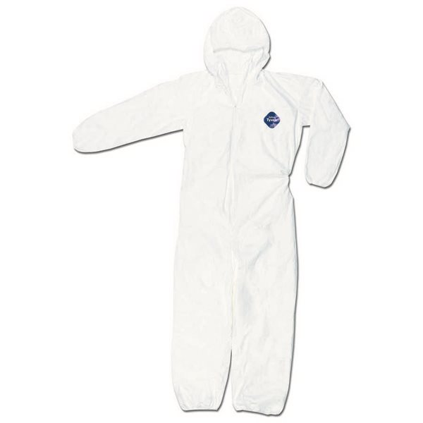 Dupont Corporation TY127SWHM Tyvek Coverall Zipper Front