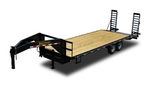 small resolution of standard 14000 gvwr flatbed gooseneck trailer 24 ft