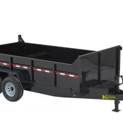 15000 gvwr deluxe heavy duty dump trailer 14 ft x 80 in  [ 1200 x 700 Pixel ]