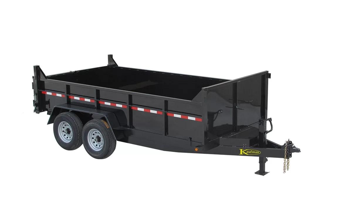 hight resolution of 15000 gvwr deluxe heavy duty dump trailer 14 ft x 80 in