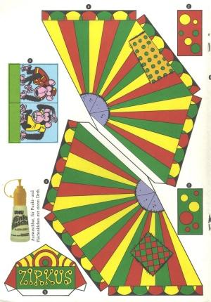 Bastelbogen Zirkus  Kaukapedia