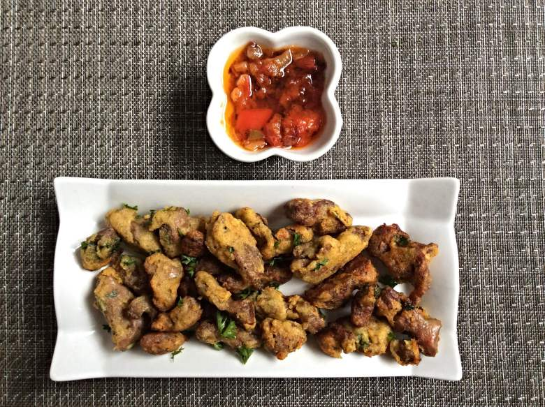 plantain battered gizzards