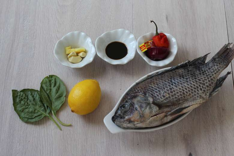 Lemon & scent leaf tilapia