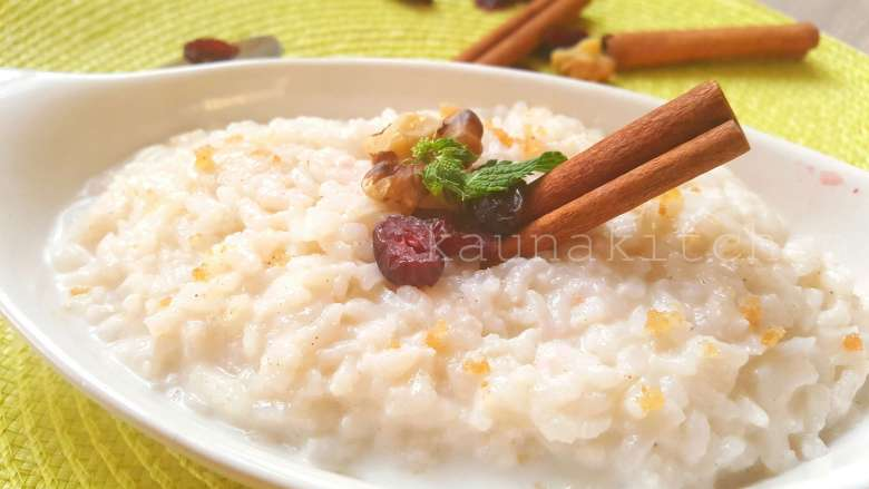 Cocount Rice Pudding