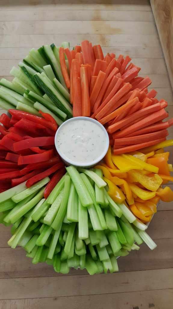 vegetable dip platter