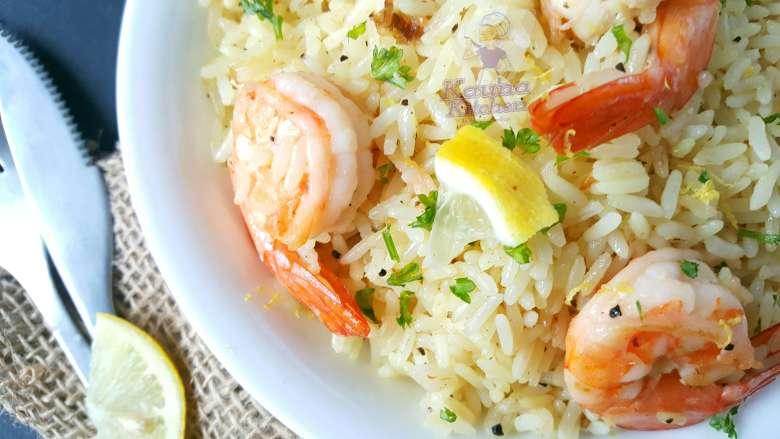 Nigerian lemon butter rice